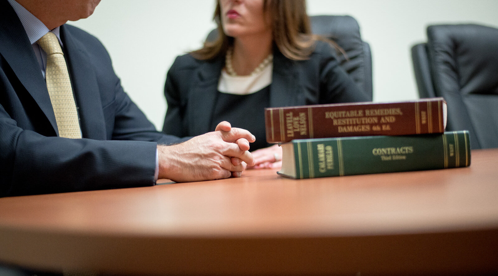 Three Lawyers in Conference Room